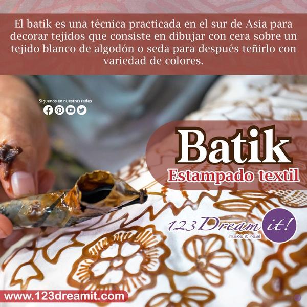 Batik, estampado textil