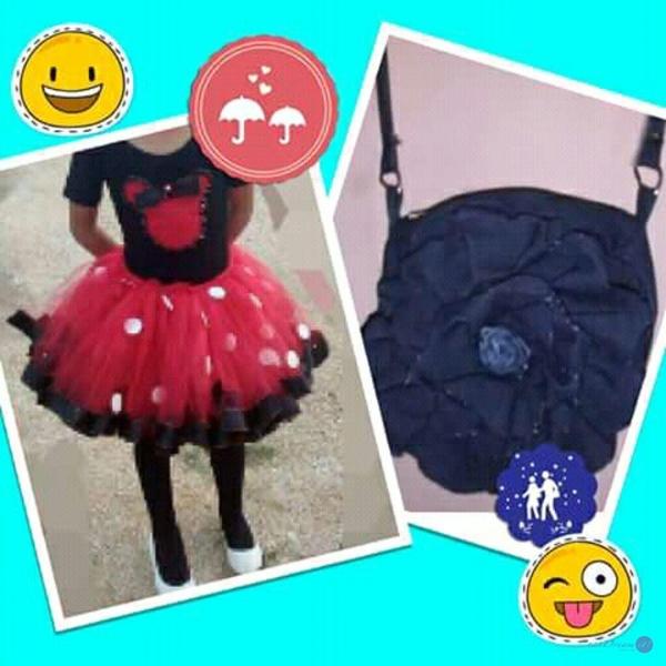 falda tutú y bolsa