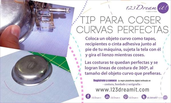 ¡Tip para coser curvas perfectas!