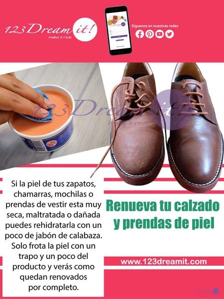Renueva la piel de tu calzado y prendas de piel.
