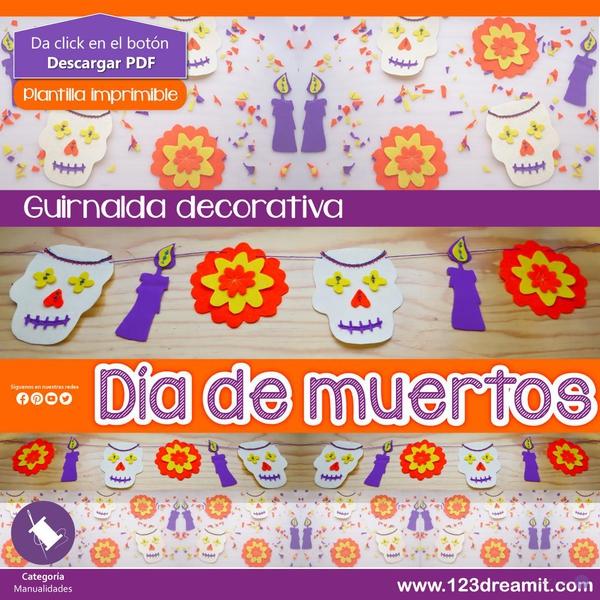 DÍA DE MUERTOS - GUIRNALDA DECORATIVA