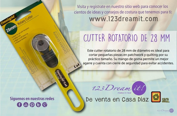Cutter rotatorio de 28 mm