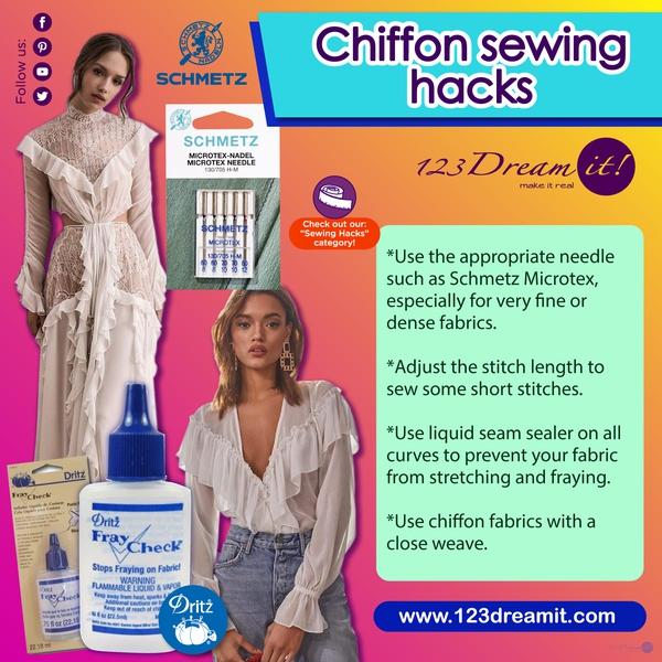 CHIFFON SEWING HACKS