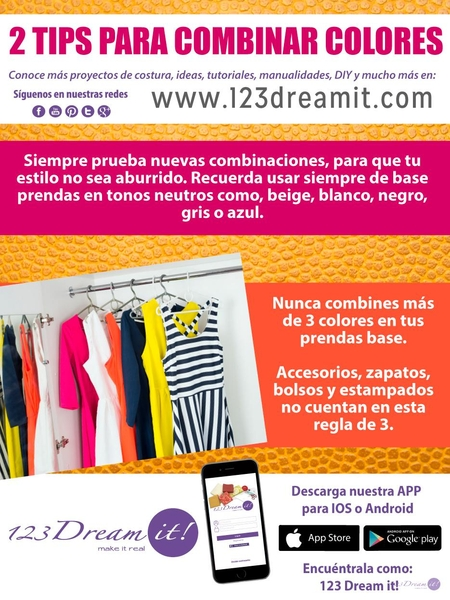 2 Tips para combinar colores