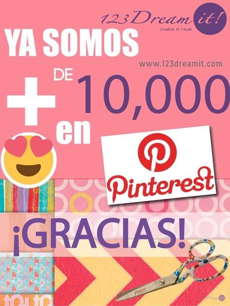 Ya somos 10,000 en Pinterest