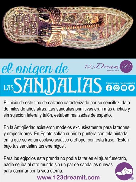 El origen de las sandalias