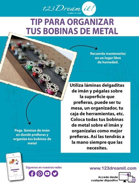 Tip para organizar tus bobinas de metal
