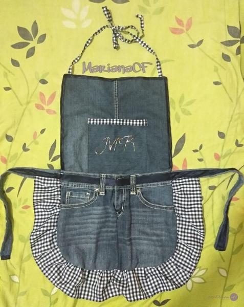 Mandil/Delantal de jeans reciclados