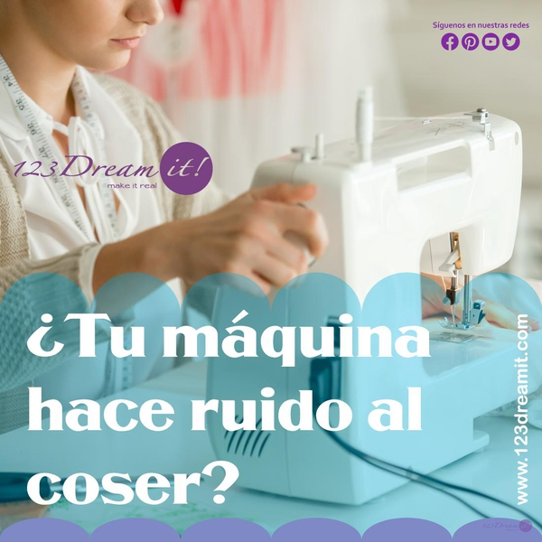 ¿Tu máquina hace ruido al coser?