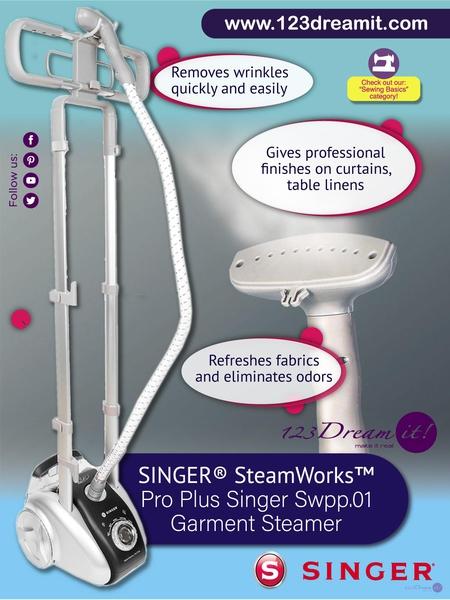 SINGER STEAMWORKS PRO PLUS SINGER SWPP.01 GARMENT STEAMER