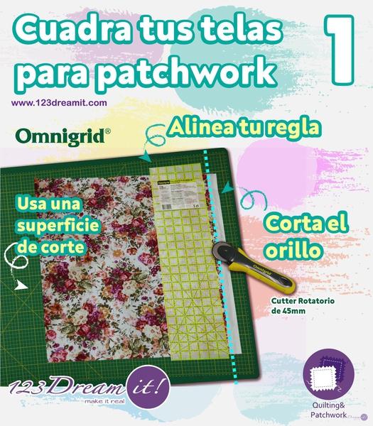 Cómo cuadrar las telas para patchwork