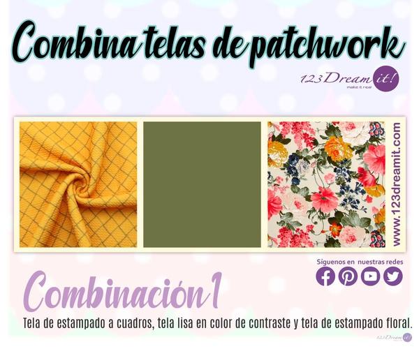 Crea combinaciones de patchwork y quilting