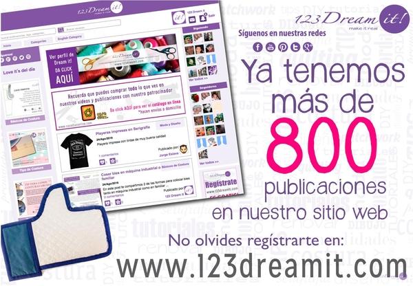 Más de 800 publicaciones