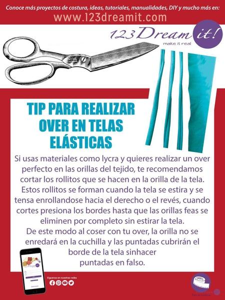 Tip para realizar over en telas elásticas