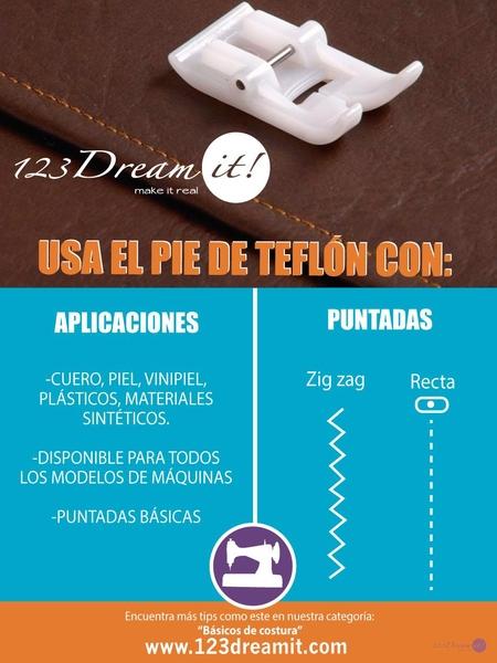 Usos y aplicaciones del pie de teflón
