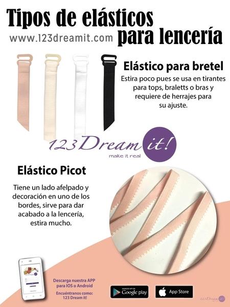 Tipos de elásticos para lencería