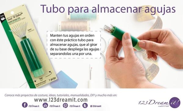 Tubo para almacenar agujas