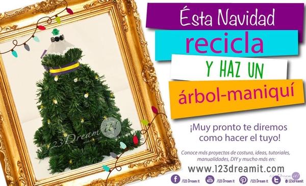 ¡Recicla y haz un árbol maniquí!