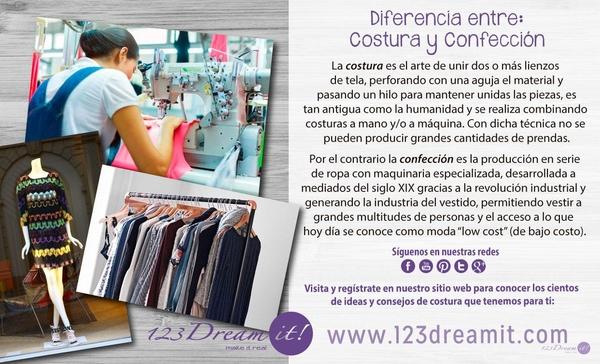 Diferencia entre Costura y Confección