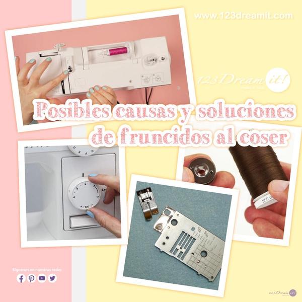 Posibles causas y soluciones de fruncidos al coser