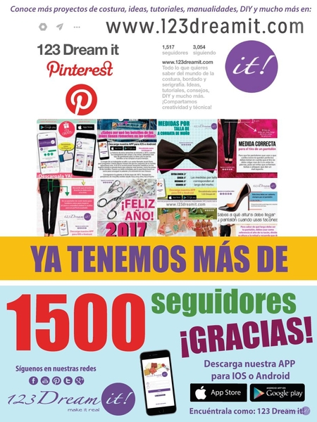 ¡Ya somos 1500 en Pinterest!