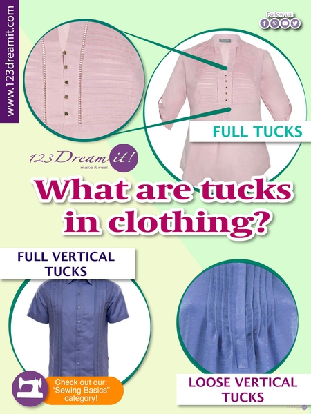 WHAT ARE TUCKS IN CLOTHING?