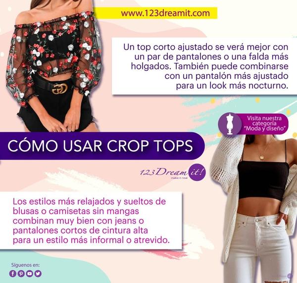 Cómo usar crop tops