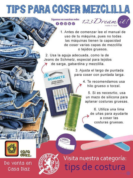 Tips para coser mezclilla