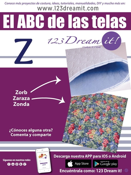 """El ABC de la telas letra """"Z"""""""