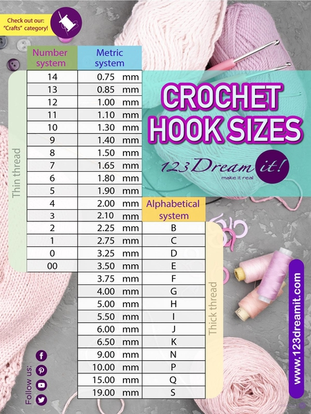 CROCHET HOOK SIZES