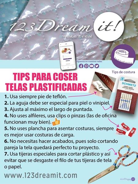 Tips para coser telas plastificadas.