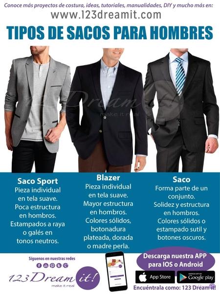 Tipos de sacos para hombres