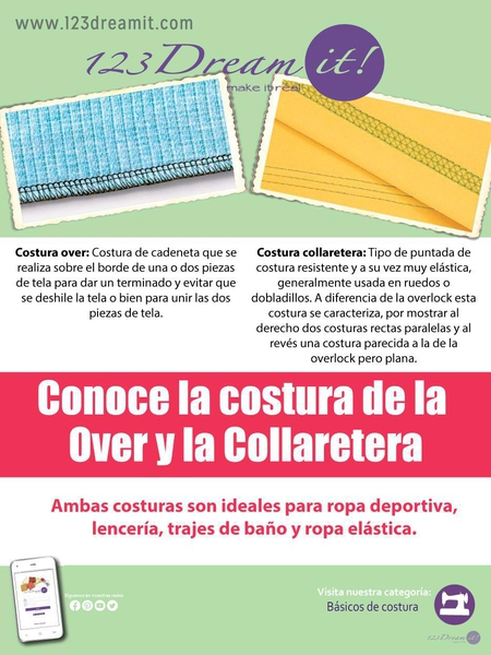 Conoce la costura de la over y la collaretera