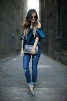 linda blusa azul