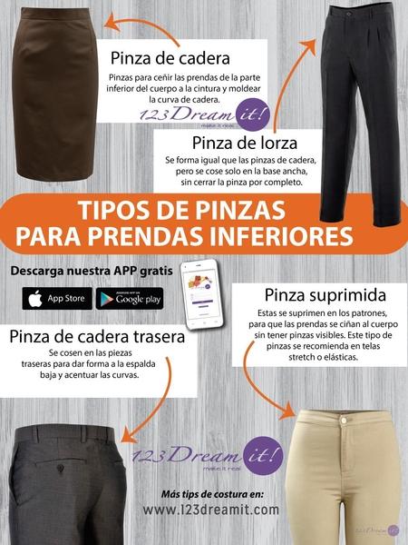 Tipos de pinzas para prendas inferiores