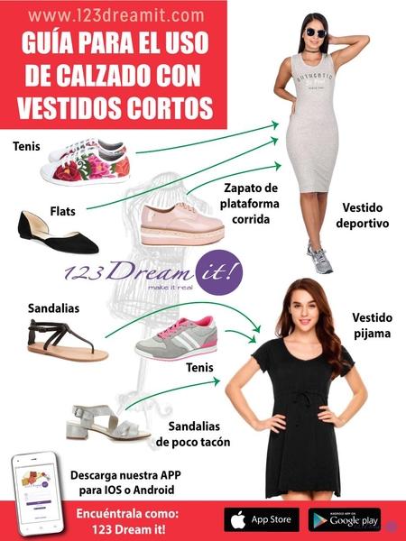 Guía para el uso de calzado con vestidos cortos