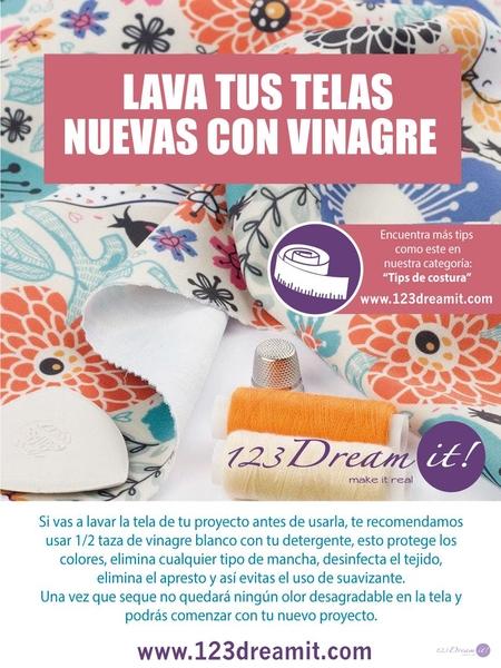 Lava tus telas nuevas con vinagre