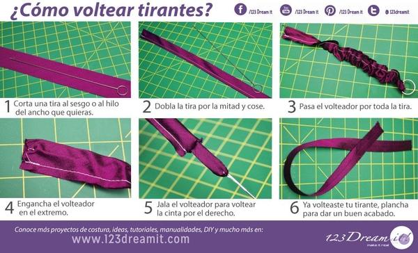 Tip para voltear tirantes o cintas