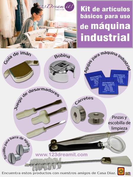 Kit de accesorios básicos para uso de máquina industrial.