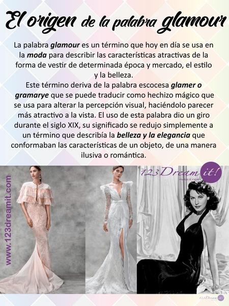 EL origen de la palabra glamour