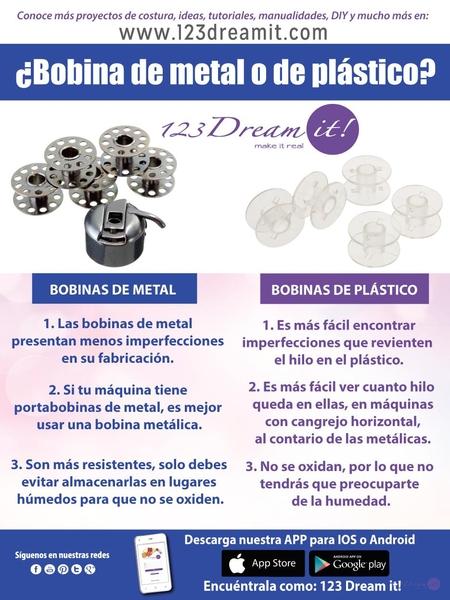 ¿Bobinas de metal o plástico?