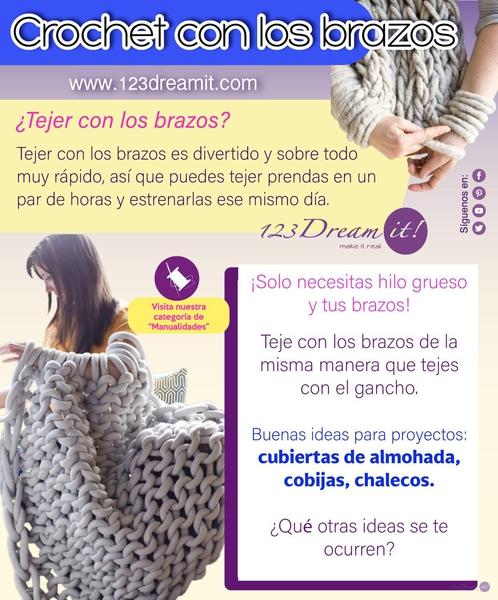 Crochet con los brazos