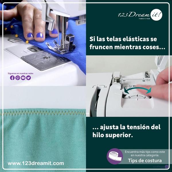 Tip para evitar frunces en telas elásticas