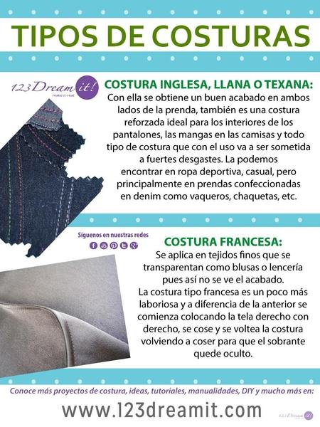 Tipos de costuras para dar un buen acabado