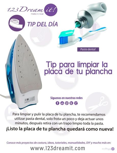 Tip del día: ¡Tip para limpiar y pulir la placa de tu plancha!