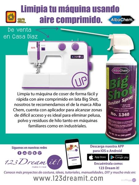 Limpia tu máquina con aire comprimido en lata