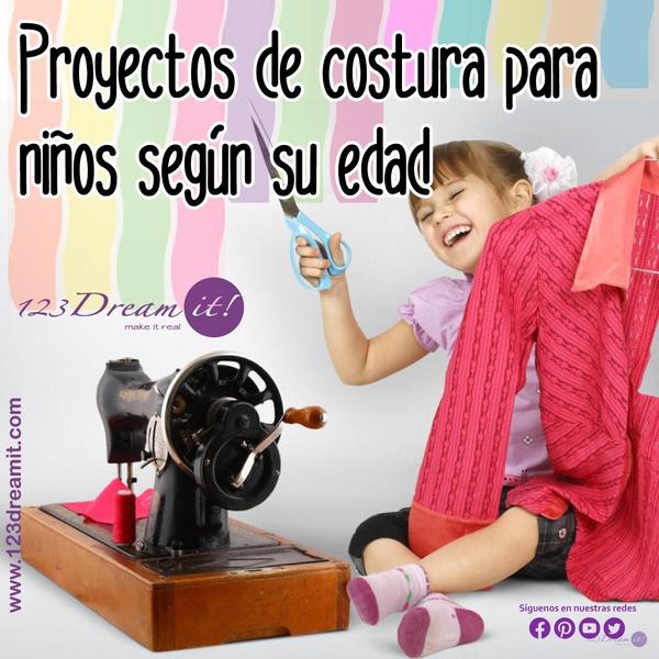 Proyectos de costura para niños según su edad