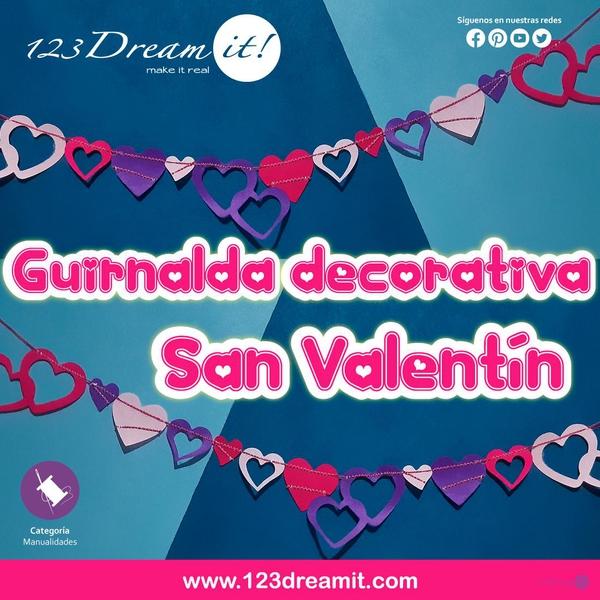 Guirnalda decorativa para San Valentín