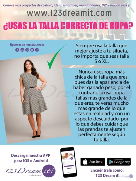¿Usas la talla correcta de ropa?