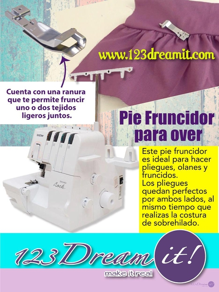 Pie fruncidor de over